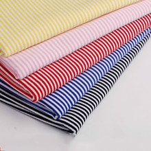 hot sale 160cm width 2mm striped 4 way stretchy cotton knitted Lycra cloth DIY fashion apparel fabric by half meter(China)