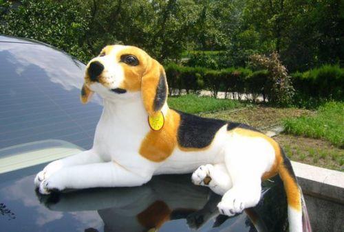 cute simulaiton plush beagle dog toy lying beagle dog doll gift about 60cm<br>
