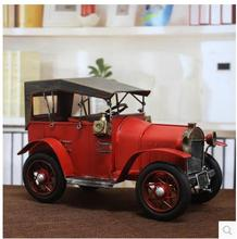 High grade European Antique tin car restore ancient ways Rolls-Royce motor cars model Miniatures decoration furnishing articles