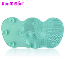 Silicone Makeup Brush Cleaner Mat Washing Cosmetics Make up brushes Cleaning Pad Scrubber Sucker Board Washing Cleaner Tool