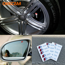 OKECAM 10Pcs 3d Car Sticker Door Window Decal Sticker Audi A4 B6 B8 B7 B5 B9 8e 8k S4 RS4 Quattro Allroad RS S line Sline