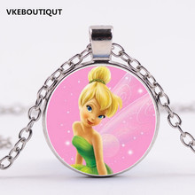 Tinker Bell 3/Color Pendant Cute TinkerBell Necklace Chain Pendant Necklace Gift Accessories for child/kids/Girl 2017 New(China)