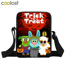 Halloween Pumpkin Trick Or Treat Bags Boys Girls Candy Sacks Bag Spirit Spider children Crossbody Bag kids Halloween Gift Bags(China)