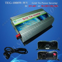 solar pv inverter price, 1000W Grid Tie Inverter for home use 22-60vdc input voltage and 100vac,110vac,120vac,output