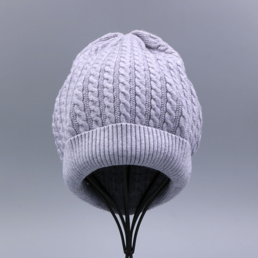 Women's Winter Hat Knitted Wool beanies Skullies Female Causal Mask Ski Thicker Warm Pompon Hats For Women  (2)