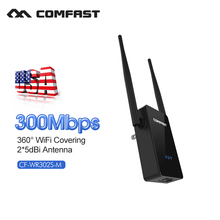 300Mbps wifi router repeater amplificador 802.11N/B/G Router Range Extender 5dBi Antenna Signal Boosters COMFAST CF-WR302S(China)