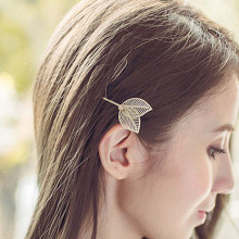 TS397 Hollow Leaf Hairpin Hair Clip Crystal Fashion Jewelry Head Accesories Women Decorations for Hair 2016 HOT Selling