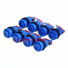 8 Pcs/lot Blue Happ Style Push Button + Micro Switch For Arcade DIY Parts MAME Game & Arcade Sticks USB Connector Joystick DIY(China)