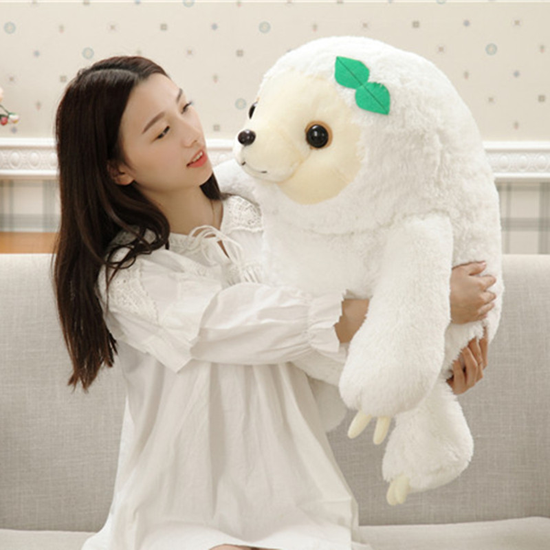 27  70cm  White Color Big Size New Arrived Sloth Plush Toy Sloth Soft Stuffed Doll Cute Sloth Plush Gift Simulation Sloth Doll<br><br>Aliexpress