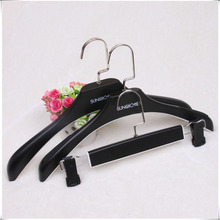 Luxury Wide Shoulder Plastic Suit Hanger for Man, Clothes/Trousers hanger With Square Hook (8 Pieces/ Lot)(China)
