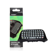 Black Wireless Messenger Chatpad Keyboard Keypad Text Pad for Xbox 360 Xbox360 Controller