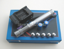 Super Powerful blue laser pointers 450nm 10w 10000mw LAZER Flashlight Burning Match cigar cutting paper plastic+5 caps+gift box(China)