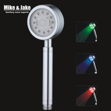 water saving high preasure Led hand shower colorful bathroom led shower handheld bathroom shower