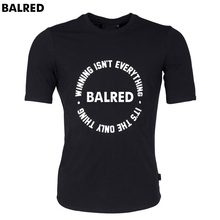 Men T shirt Tee Shirt Homme Cotton BALRED Tops Letter Printing Brand Clothing 1:1 Round Bottom Fitness Tshirt Euro Size T-shirt