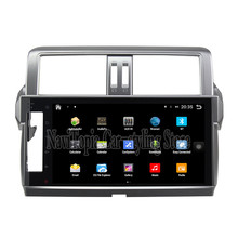 NaviTopia Brand New 10.1inch Quad Core Android 6.0 Car PC For Toyota Prado(2014) Steering Car Audio Player With GPS Navigation(China)