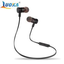 Bluetooth Headphones LUOKA M9 Wireless In-Ear Noise Reduction earphone with Microphone Sweatproof Stereo Bluetooth Headset