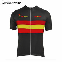 NOWGONOW custome 2017 maillot ciclismo ropa cycling jersey Spain flag Retro team clothing love bike wear hot road Wholesale cool