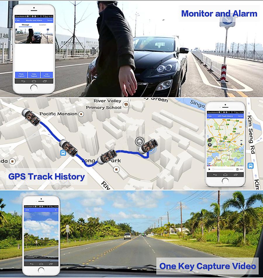 "Junsun 4G ADAS Car DVR Camera Digital Video recorder mirror 7.86"" Android 5.1 with two cameras dash cam Registrar black box 16GB 10"