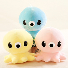 17CM Plush Toys Blue Yellow Pink Octopus Stuffed Soft Cartoon Lovely Cute Gift Kids Children Girl Free Shipping Baby Present