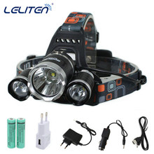 13000LM XML-T6+2xR5 LED HeadLamp Waterproof Headlight head light Fishing Lamp Lantern +2x 18650 Battery + Car / USB /AC Charger(China)