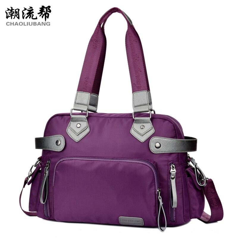 Man and womens big handbag nylon Brand black contracted large capacity travel bag  new winter of 2015 antifreeze Recreation bag<br><br>Aliexpress