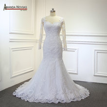 vestidos de novia two pieces wedding dress 2 in 1 wedding dress with removable skirt(China)