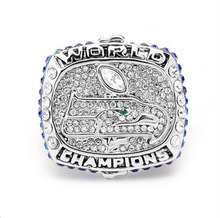 Wholesale New design 2013 Super Bowl Seattle Seahawks Zinc Alloy silver plated custom Sports Replica Men World Championship Ring(China)