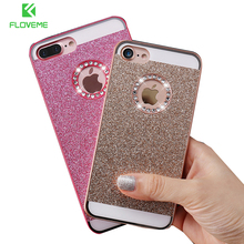 FLOVEME Bling Case For iPhone 5 5S SE 4 4S Cases Shiny Powder Phone Bag Case For iPhone 6 6s 7 Plus Women Girly Phone Cover