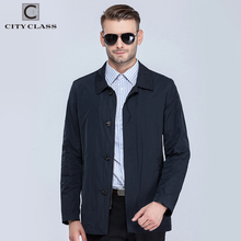 City Class mens windbreaker summer spring brand quality jackets and coats for male unique classic model plus size blue 16477(China)