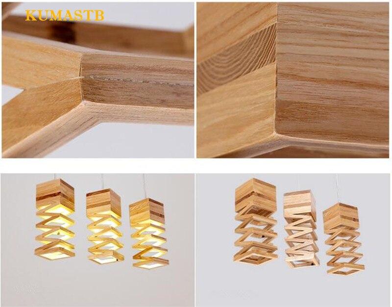 Wood Spring Pendant Lamp 12
