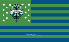 Seattle Sounders Large Outdoor Nation Baseball Flag 3X5FT Custom Flag 90x150cm white sleeve with 2 Metal Grommets