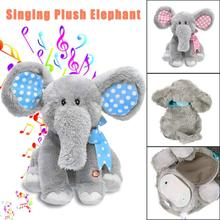 Animated Singing Elephant Baby Plush Toy Flappy Soft Animal Toy Kid Doll Gifts Dropship Y927(China)