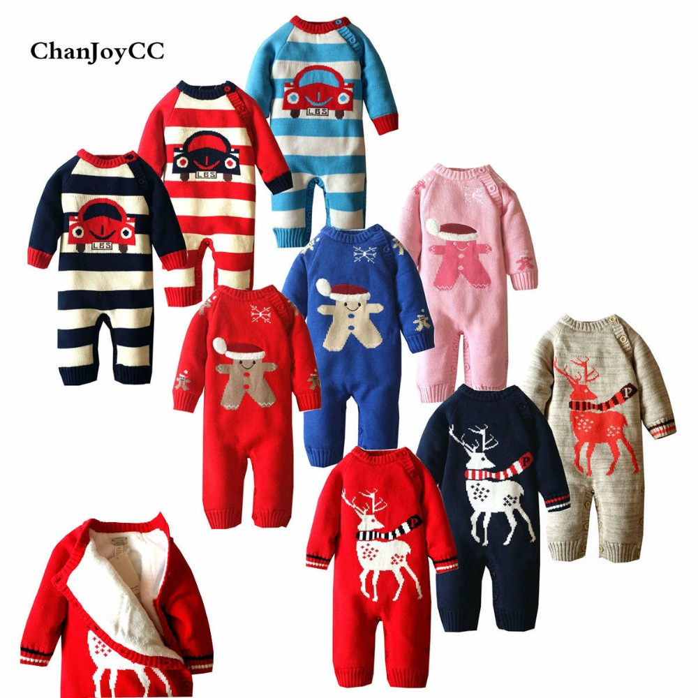 2017 Baby Romper Winter New Fashion Newborn Girls Boys Thickening Warm Clothes Longsleeve Kids Christmas Rompers Jumpsuit<br>