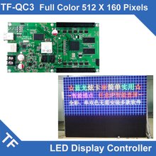 TF-QC3 Longgreat TF USB Ethernet port Full color LED display asynchronous control card 512*160 384*320 DOTS(China)