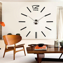 Factory Price! Luxury Wall Clock Living Room DIY 3D Home Decoration Mirror Large Art Design