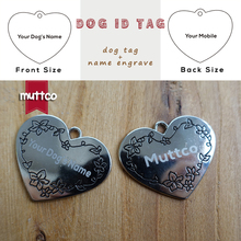 2pcs/lot Laser engraving kirsite stainless steel can be customized tag fashion heart sharp dog engrave lettering id tag