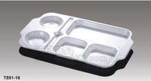porcelain melamine dish for student seven lattice points plate and rectangular plate(China)