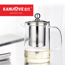 350ml 500ml KAMJOVE Tea Cup Ceremony Elegant Cup Heat-resistant Glass Tea Pot Office Home Tea Set with Stainless Steel Filter