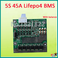 5S 45A lifepo4 BMS PCM lifepo4 battery protection board bms pcm with balancing for lifepo4 battery cell pack(China)