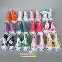 7.5cm Canvas Jean Doll Shoes For Mini Toy Shoes Bjd Doll Shoes for Russian Handmade Diy Tilda Doll Sneakers
