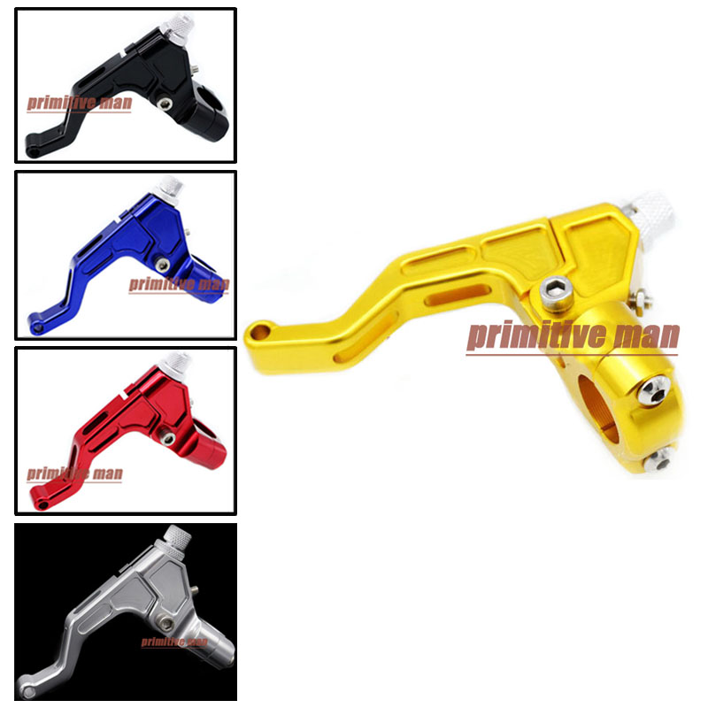 Motorcycle Accessories 22mm 7/8 handlebar CNC T6061 Aluminum Stunt Clutch Lever Assembly Gold<br><br>Aliexpress