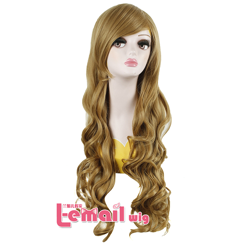 80cm Anime Long Wave Curly Cosplay Wig Synthetic Hair Wigs free shipping<br><br>Aliexpress