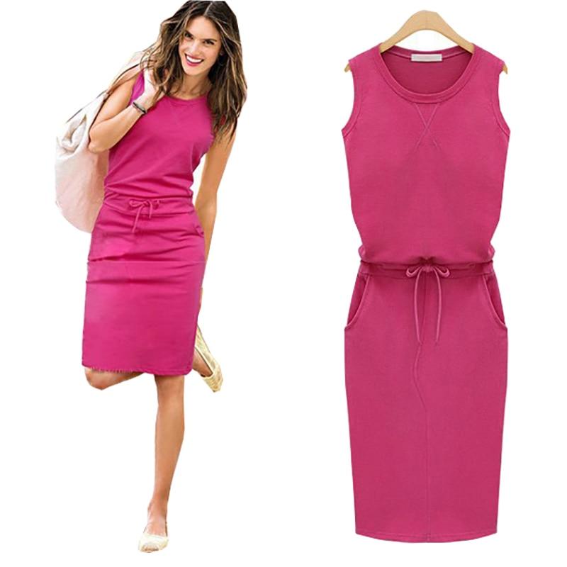 2018-Summer-Dress-Women-O-neck-Sleeveless-Casual-Work-Office-Dresses-Bodycon-Slim-Grey-Pencil-Dresses (2)