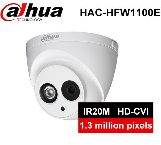 Dahua Outdoor/Indoor HDCVI Camera DH-HAC-HDW1100E 1mp HD Network IR security cctv Dome Camera IR distance 40m HAC-HDW1100E  IP67<br>