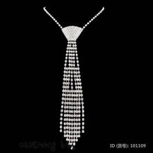 Necklace Tie Jewelry Shiying Sexy Accessories, Rhinestone Necktie 101109 + Cheaper price + Free Shipping Cost + Fast Delivery(China)