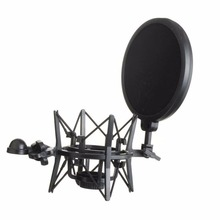 2017 High Quality Microphone Mic Professional Shock Mount With Pop Shield Filter Screen