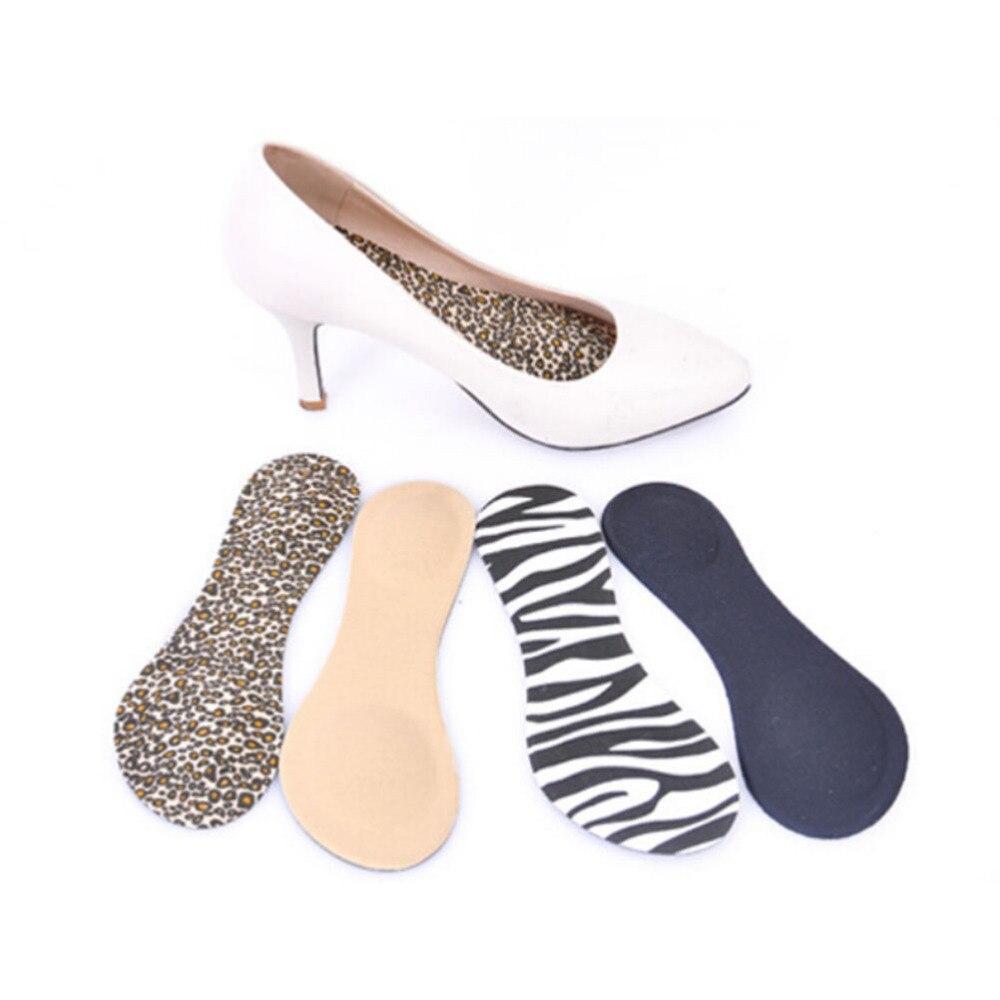 1 Pair High Heel Cushion Insert Pads Massage Women Arch Support 3D Foam Shoes Insole Relieve Pain Feet Care