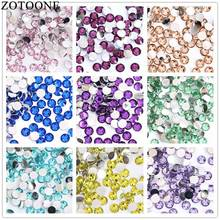 ZOTOONE 2-6mm 1000Pcs Colorful Resin Flat Back Sew On Rhinestone Trim Stickers Accessories Applique Rhinestone Nail Art Decor C