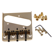 Good deal 3 Saddle Bridge for Fender Telecaster Tele TL Style Electric Guitar Gold Stringed Instruments Parts