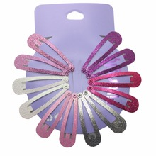 12pcs/lot Gradient glitter women 's headwear Hair Snap Clips Christmas gifts bobby pin accessories hairgrips Barrettes hairpins(China)